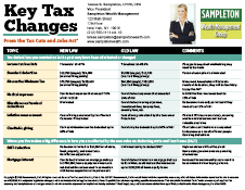 Key Tax Changes From the Tax Cuts and Jobs Act